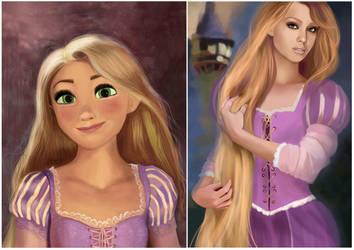 Two Rapunzel by MartaDeWinter