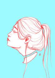 Head sketch by Katois