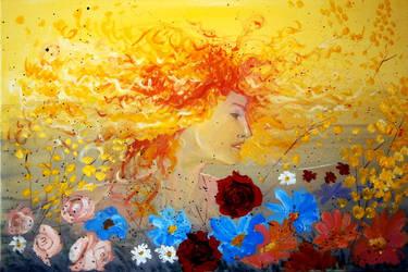 Woman spring by Ewlor
