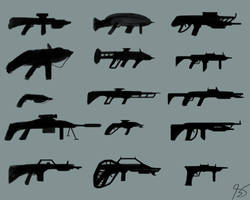 Silhouette Gun Concepts by BS4711