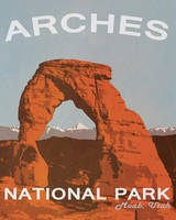 Arches National Park Retro Poster by BS4711