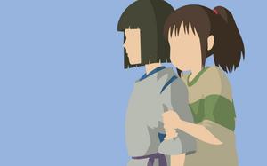 Haku and Chihiro - Spirited Away by Dingier