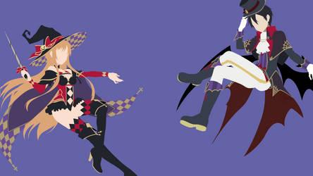 Kirito and Asuna - Sword Art Online (Halloween) by Dingier