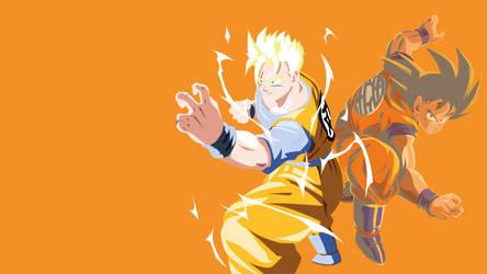 Gohan and Goku - Dragon Ball by Dingier