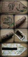 Wolves handmade pencil wrap by Dark-Lioncourt