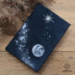 Leather bound Ursa Minor handcrafted journal by Dark-Lioncourt