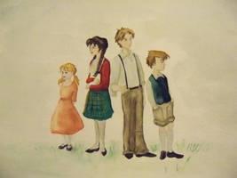The Pevensies by EshMholl