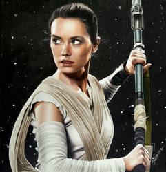 Colored pencil drawing: Daisy Ridley as Rey by JasminaSusak