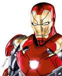 Iron Man Drawing by JasminaSusak