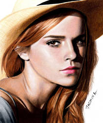Colored Pencil Drawing of Emma Watson by JasminaSusak