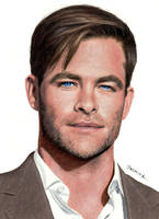 Colored Pencil Drawing: Chris Pine by JasminaSusak