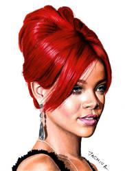 Colored Pencil Drawing of Rihanna by JasminaSusak