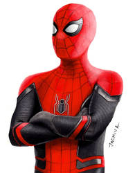 Drawing Spider-Man in NEW Suit Far From Home by JasminaSusak