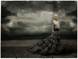 Lady in gray by oloferla