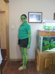 snake costume - body art - by Auzzie-Foxy