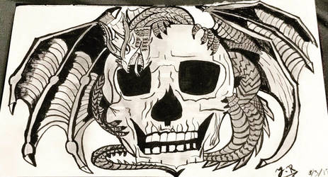 Skull  Dragon ~  by jack9814