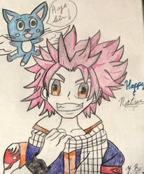 Natsu and Happy ~  by jack9814
