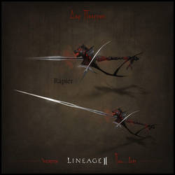 Weapon set concept Lineage II. Rapier by llaiii