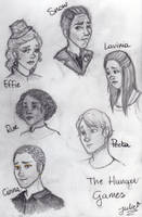 Hunger Games doodles by tonksgiuly