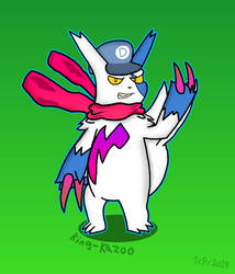 Darnell but as a Zangoose by King-Kazoo