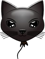 Black Cat Balloon by mondspeer
