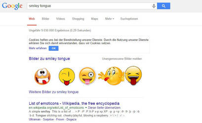 My Tongue Smiley made it Top 5 in Google by mondspeer