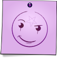 Post-It Smiley: The Witch (emotee) by mondspeer