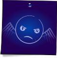 Post-It Smiley: The Shadow (emotee) by mondspeer