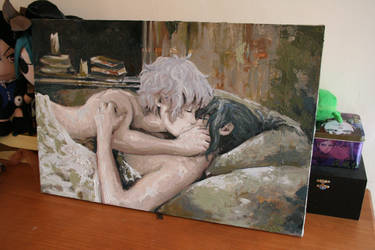 Work in process ~ making out ~in oil paint by Karolina5n