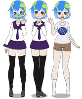 Kisekae: Earth Chan [+EXPORTS] by cragy-paste