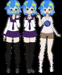 Kisekae: Earth Chan [+EXPORTS] by cragy-paste