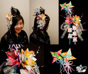 Origami Ninja's Hair Pin by xxpo0k13x