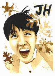 BTS JHope Coffee Painting 1 by Vixtronic