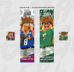 More gangsta graphics for AlexanderAlmeida by Jaaziar