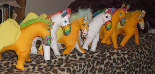 New Pegasus Ponies by carouselfan