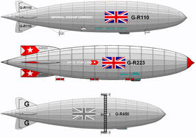 More fictional Airships by linseed