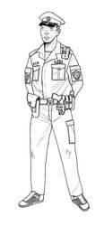 Police Patrolman GITS by linseed