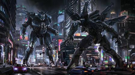 Robot Fight4 by CaptFlushGarden