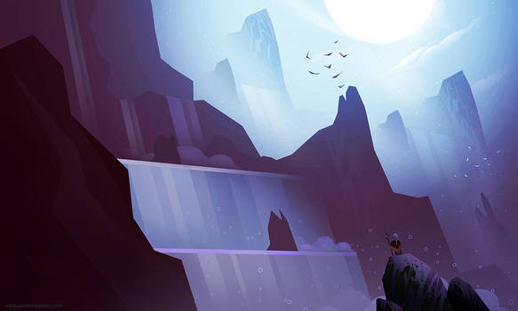 Waterfalls 01 by AlynSpiller