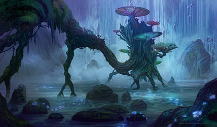 Hidden Treehouse by AlynSpiller