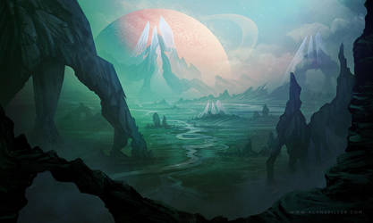 Alien Planet by AlynSpiller