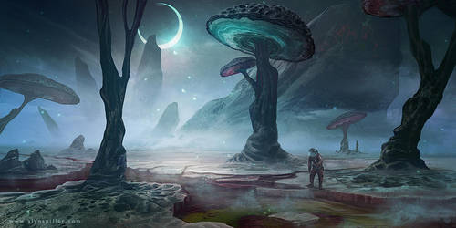Alien Landscape 02 by AlynSpiller