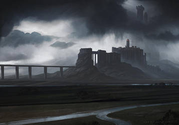 Fortress Concept Art by AlynSpiller