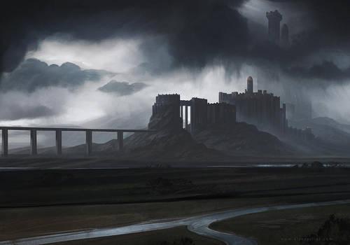 Fortress Concept Art by AlynSpiller