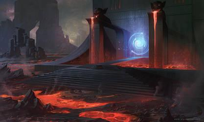 Lava concept art by AlynSpiller