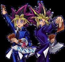 Yugi and Atem [Render] by AlanMac95