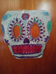 Paper Day of The Dead Skull by Dinner101
