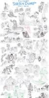 SKETCH-DUMP Fall 2012 (Part 1) by killigann