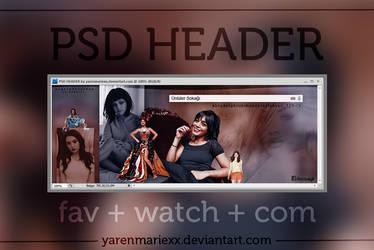 +PSD HEADER by yarenmariexx