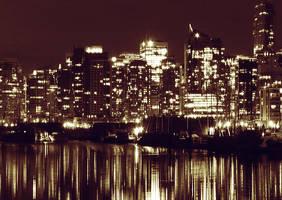 Vancouver At Night II by wikatiepedia